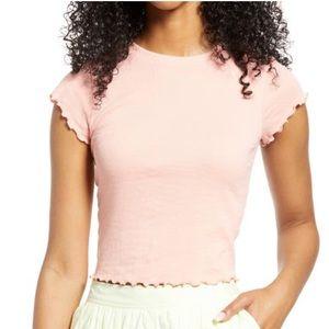 bp. pink lettuce edge tshirt